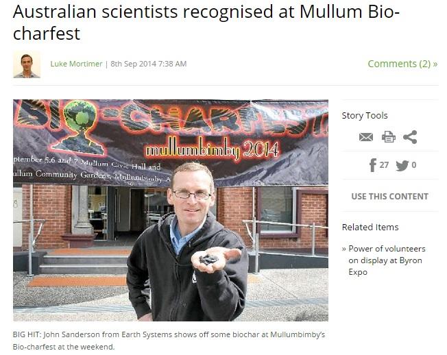 Earth Systems at Bio-CharFest Mullumbimby 2014