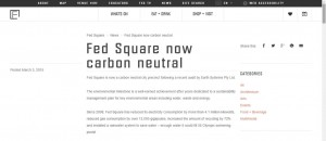 Fed Square now carbon neutral
